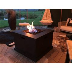 Foremost Outdoor Square Gas Fire Pit Table
