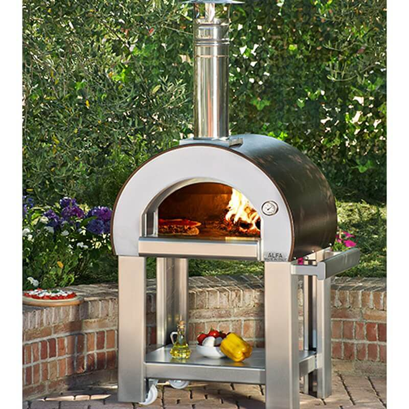Alfapizza forno 5 minuti the best selling wood fired oven for Four pizza exterieur