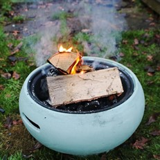 Fire Pit and BBQ in Stylish Duck Egg Blue