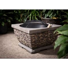 Premium Wood Burning Stone Fire Pit