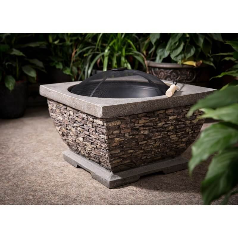 Premium Wood Burning Stone Fire Pit and Patio Heater
