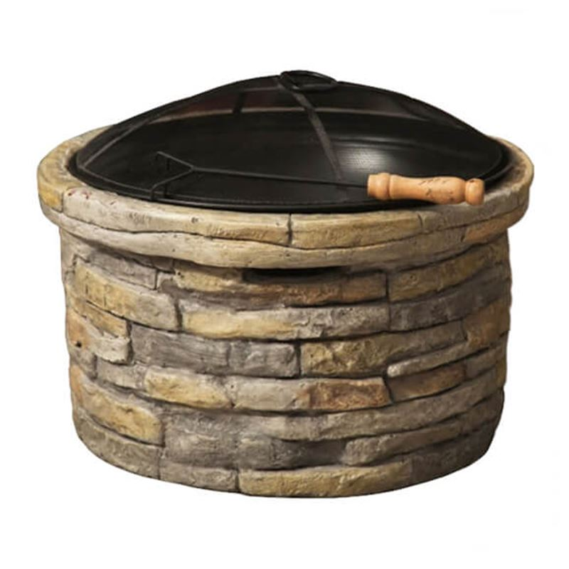 Stylish Stone Fire Pit and Garden Patio Heater