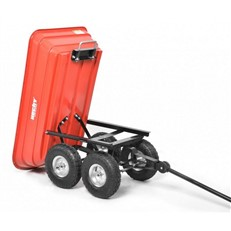 Garden Trolley Hand Cart and Trailer with Tilt Feature
