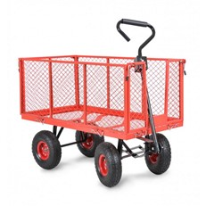 Heavy Duty Garden Trolley Cart and Tractor Trailer with Liner
