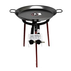 46cm Paella Set with Gas Burner and Skimming Spoon