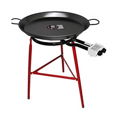 60cm Paella Pan with Legs, Burner and Spoon