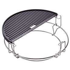 Kamado Joe Half Moon Cast Iron Reversible Griddle for Classic Models