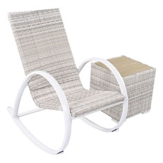 Timor Rattan Garden Rocking Chair and Coffee Table