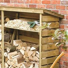 Large Double Firewood Log Store
