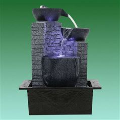 Contemporary Cascading Bowls Tabletop Water Feature