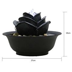 Flower Indoor Tabletop Water Feature