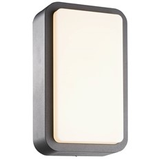 LED Rectangular Outdoor Wall or Ceiling Light with Diffuser