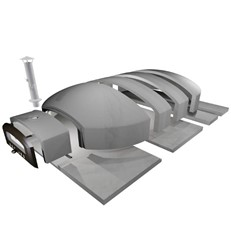 Large DIY Outdoor Pizza Oven Kit 120cm