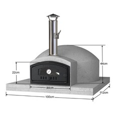 Build Your Own Outdoor Pizza Oven Kit 80cm