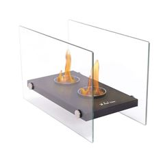 Pur Line Oniros Duo Tabletop Bio-ethanol Portable Fireplace with Twin Burners