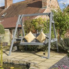 Palermo Garden Swing Seat with Contemporary Grey Finish