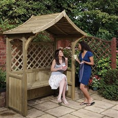 Garden BBQ Shelter and Arbour Seat