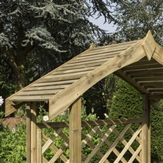 Salisbury Traditional Style Arbour with Twin Seat
