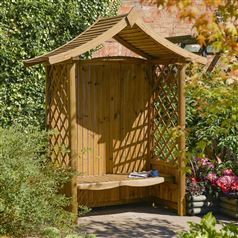 Tenbury Pressure Treated Timber Garden Arbour