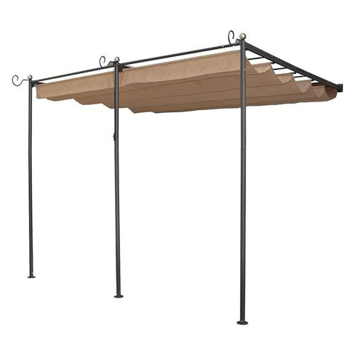 St Tropez Wall Mounted Taupe Sun Canopy
