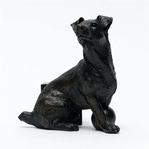 Bronze Jack Russell Terrier Pot Feet