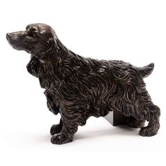 Cocker Spaniel Bronze Flower Pot Feet