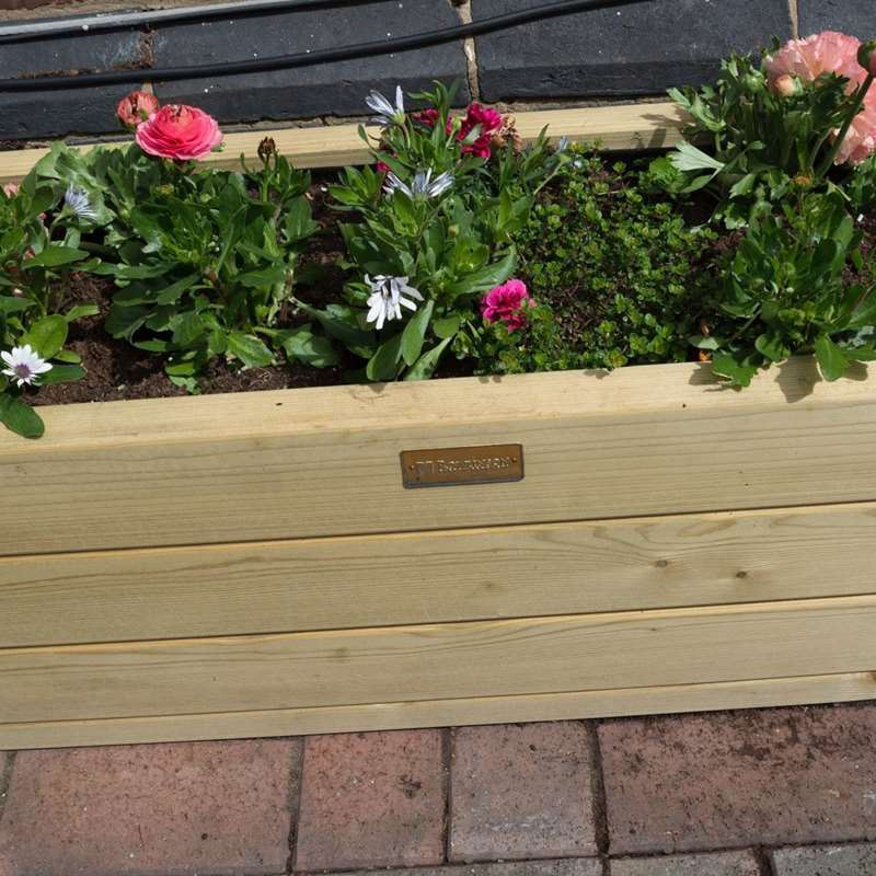 Rowlinson Marberry Rectangular Patio Planter With Liner