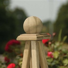 Marberry Circular Planter with Integrated Obelisk