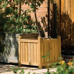Square Timber Planter with Natural Finish