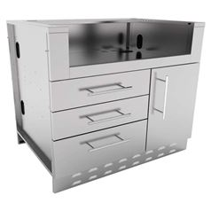 Stainless Steel DIY Outdoor Kitchen 4 Burner Gas BBQ Cabinet