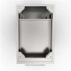 "18"" Three Drawer Stainless Steel Cabinet"