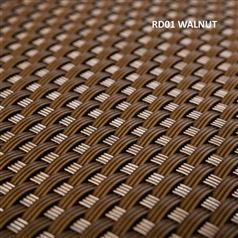 Artificial Poly Rattan Weave Privacy Screen Garden Fencing 2m High Walnut
