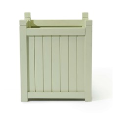Square Painted Hardwood Planter