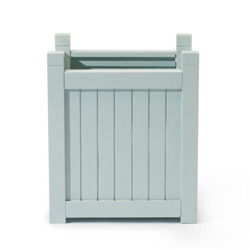 Large Square Hardwood Planter in Parma Grey