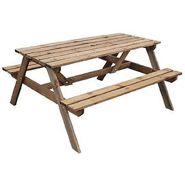 Standard Wooden Picnic Bench