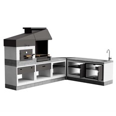 Kitaway Otte L-Shaped Outdoor Kitchen Pack