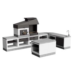 Kitaway Otte Huge Outdoor Kitchen with Island