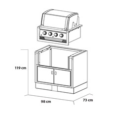 Kitaway Built-in Gas Broil King Regal 420 BBQ