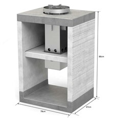 Venit Side Stand with Built-in Wood Burning Stove