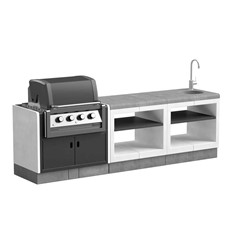 T00293 Kitaway Outdoor Kitchen Pack 4