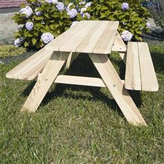 Children's Solid Pine Garden Picnic Table