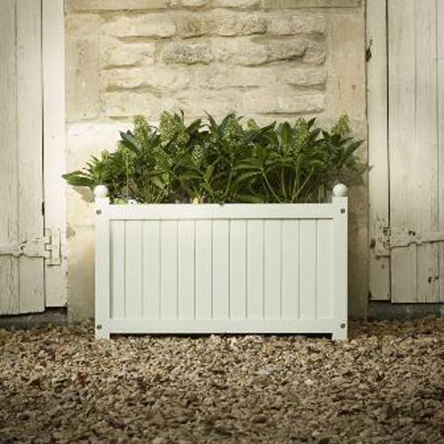 Large French Grey Trough Planter