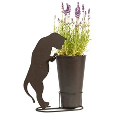 Charming Cat Silhouette Plant Pot