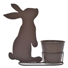 Rabbit Silhouette Plant Pot