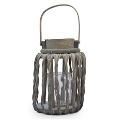 Twisted Wicker Effect Hampton Lantern