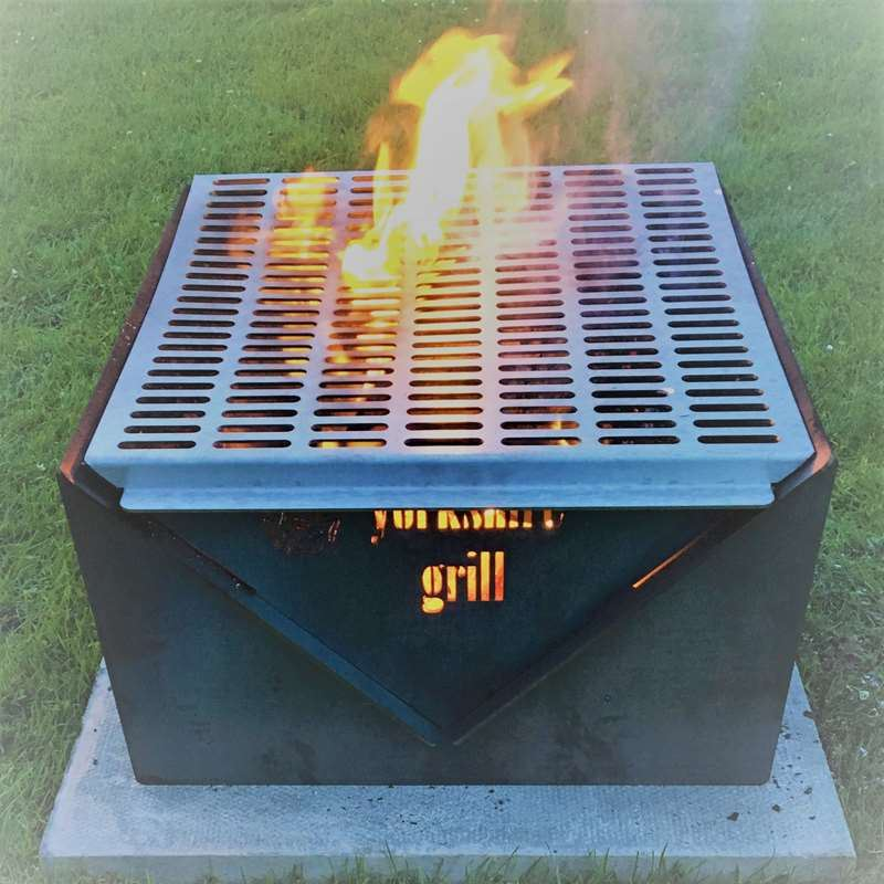 British-Made Yorkshire Grill Outdoor Fire Pit and BBQ