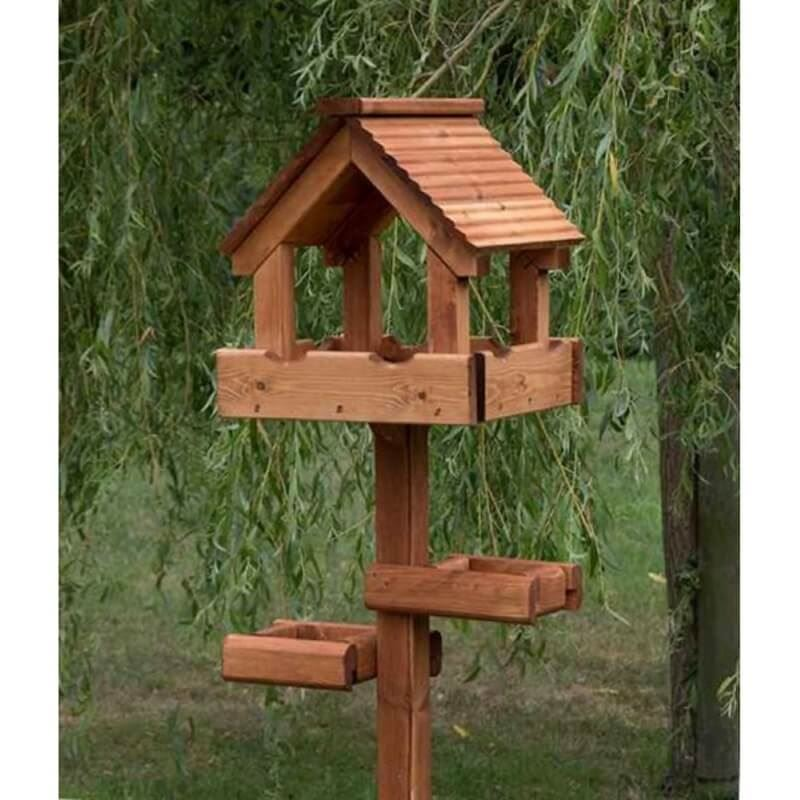 Baby Triple Bird Table With Timber Roof And Two Side Tables