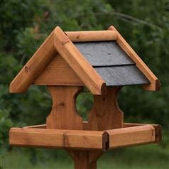 Large Verwood Bird Table with Slate Roof