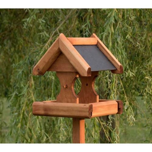 Verwood Bird Table with Slate Roof